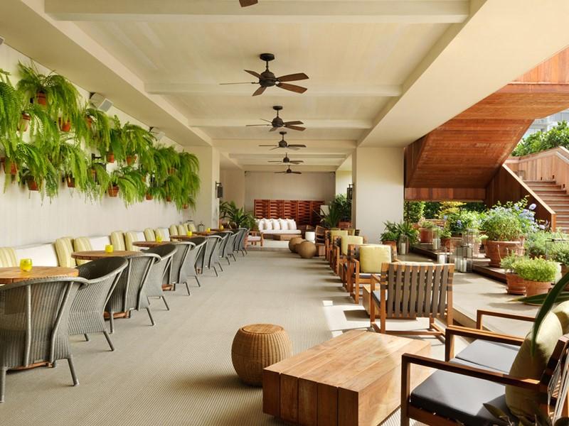 The restaurant The Grove du Modern Honolulu