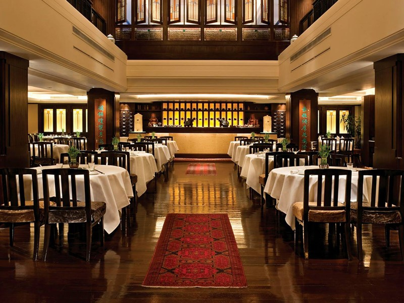 Restaurant Spring Moon de l'hôtel Peninsula Hong Kong situé en Chine