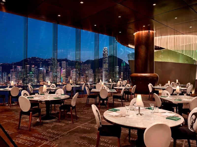 Restaurant Felix de l'hôtel Peninsula à Hong Kong
