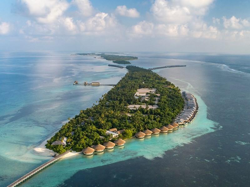 Vue aérienne du Residence Maldives Dhigura