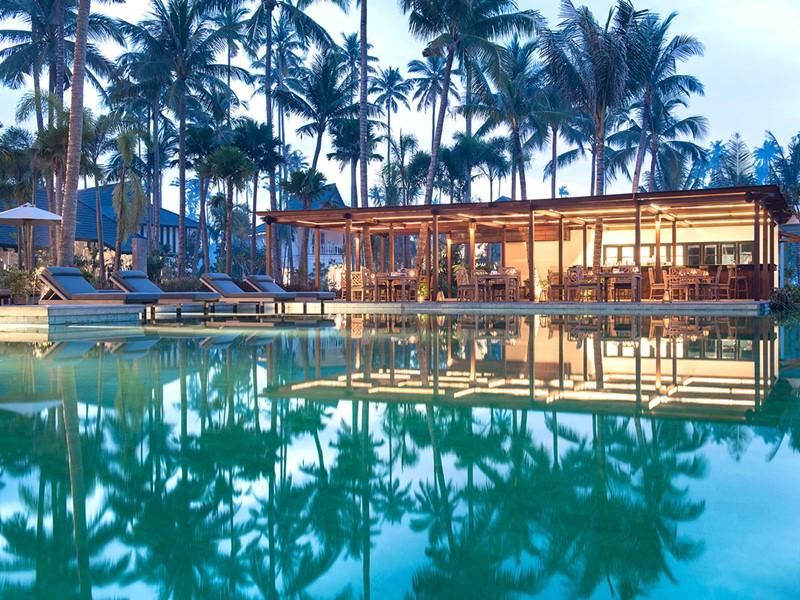 La piscine de l'hôtel Sanchaya à Bintan