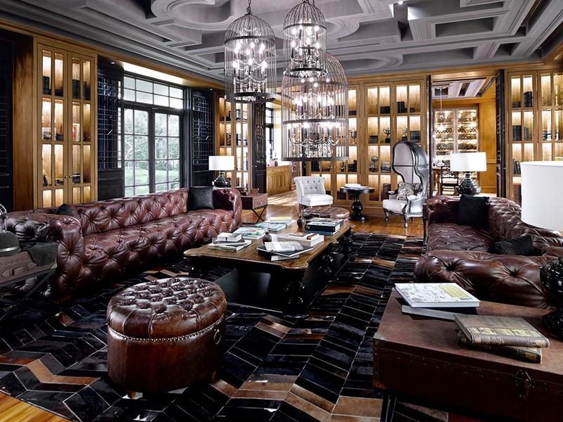 Le salon du Sanchaya Bintan en Indonésie