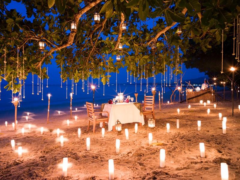 Dîner romantique sous les étoiles