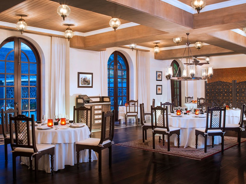 Le restaurant Simply India du St Regis au Morne