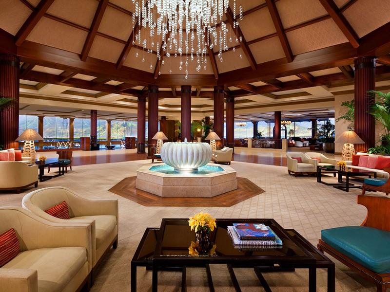 Le lobby de l'hôtel Princeville Resort Kauai à Kauia