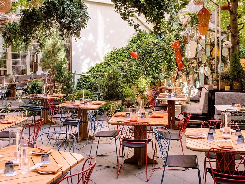 La terrasse du restaurant Narcissa