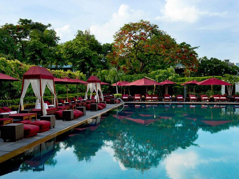 La piscine de l'hôtel Sukhothai Bangkok en Thailande