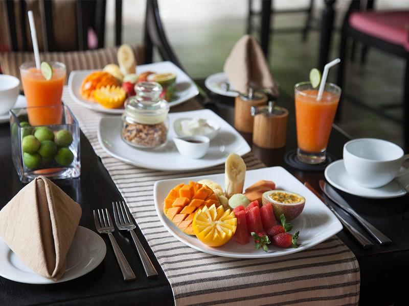 Petit déjeuner de l'hôtel The Wallawwa au Sri Lanka