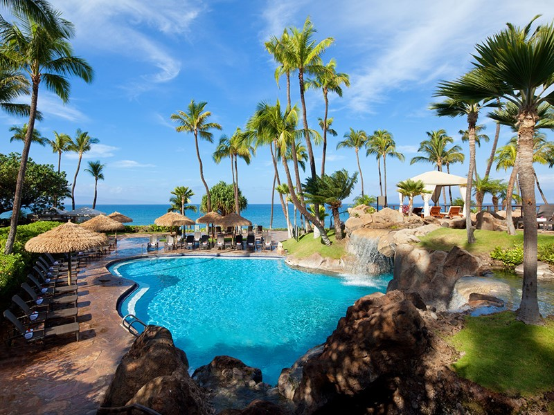 La superbe piscine de l'hôtel The Westin Maui