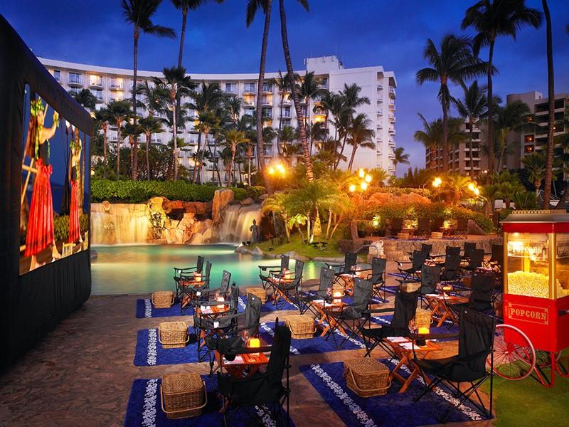 Le cinéma en plein air du Westin Maui à Hawaii