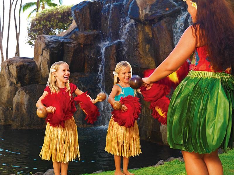 Cours de hula à l'hôtel The Westin Maui à Hawaii