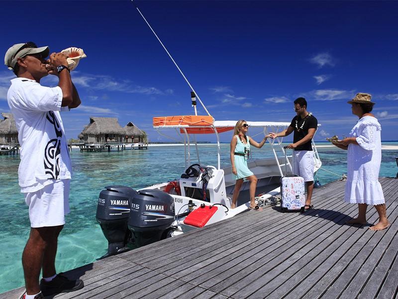 Arrivé à l'hôtel Tikehau Pearl Beach Resort en Polynésie