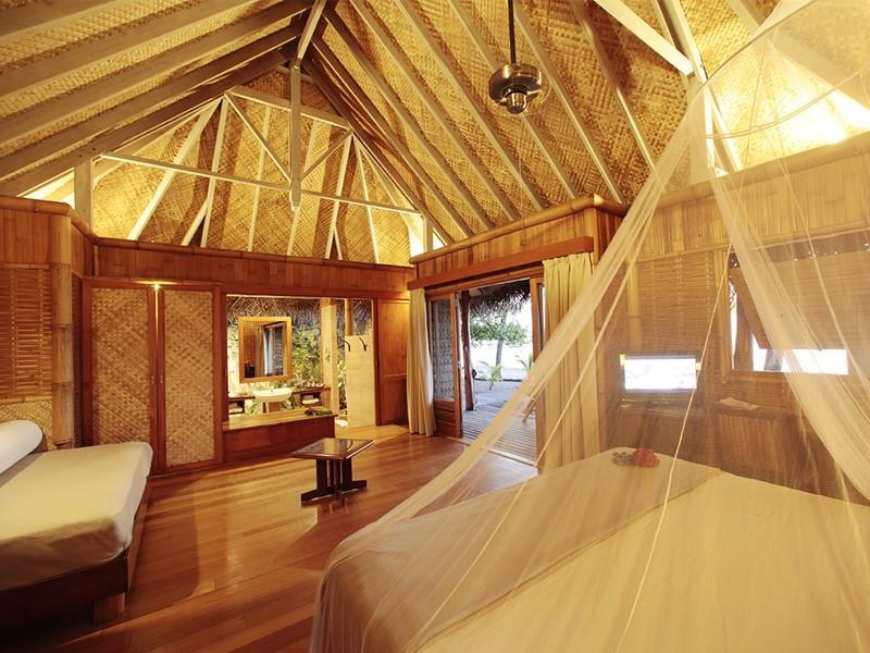 Bungalow Plage à l'hôtel Tikehau Pearl Beach Resort en Polynésie