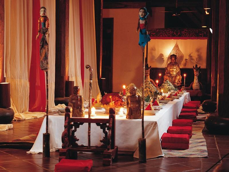 Restaurant de l'hôtel Tugu Bali à Tanah Lot