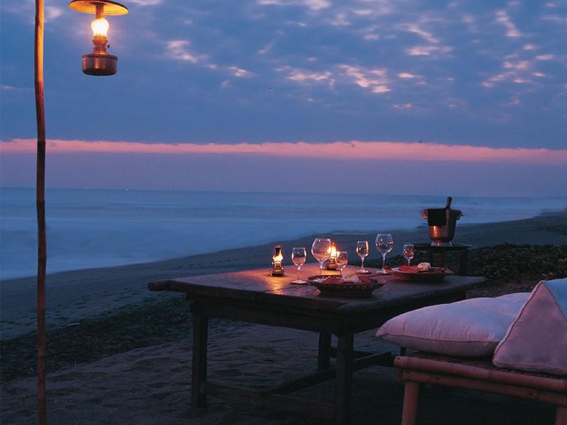 Dîner romantique au Tugu Bali à Tanah Lot