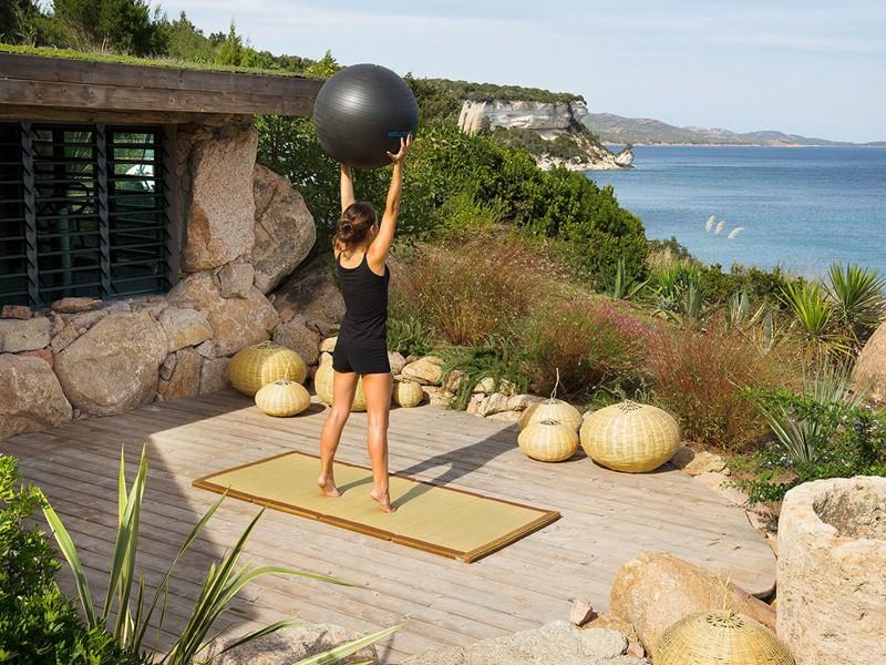 Fitness à l'hôtel U Capu Biancu situé en Corse