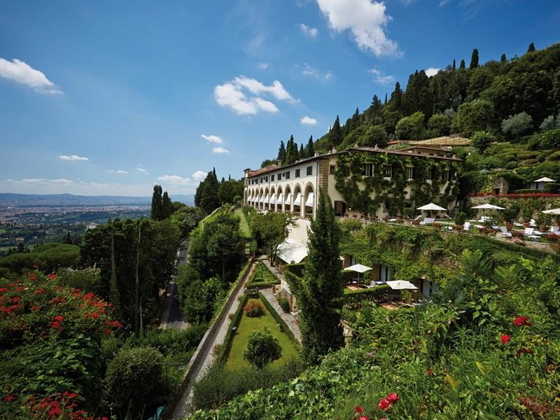 Vue du Belmond Villa San Michel