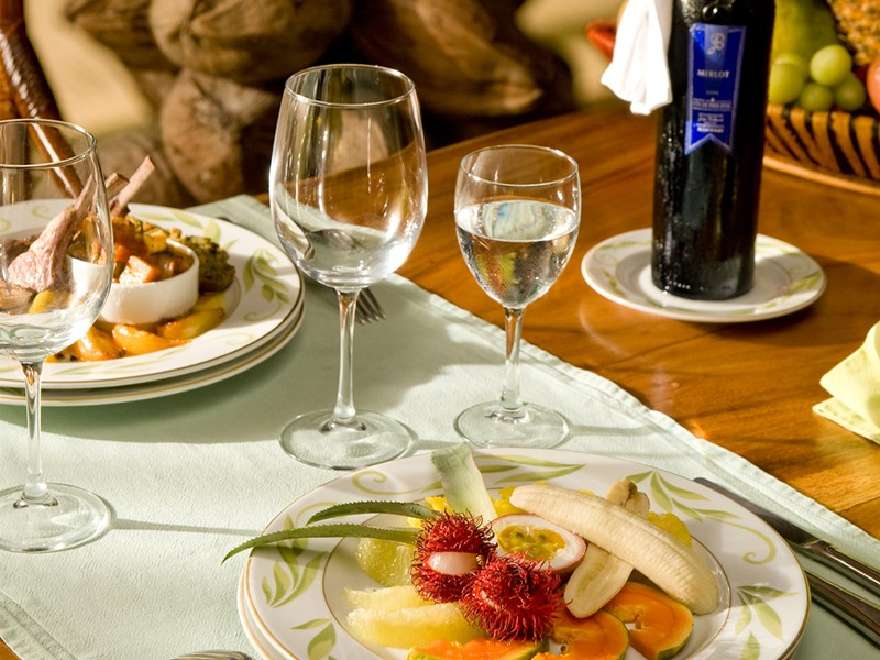 Restaurant Vahine de l'hôtel 4 étoiles Vahine Island à Tahaa