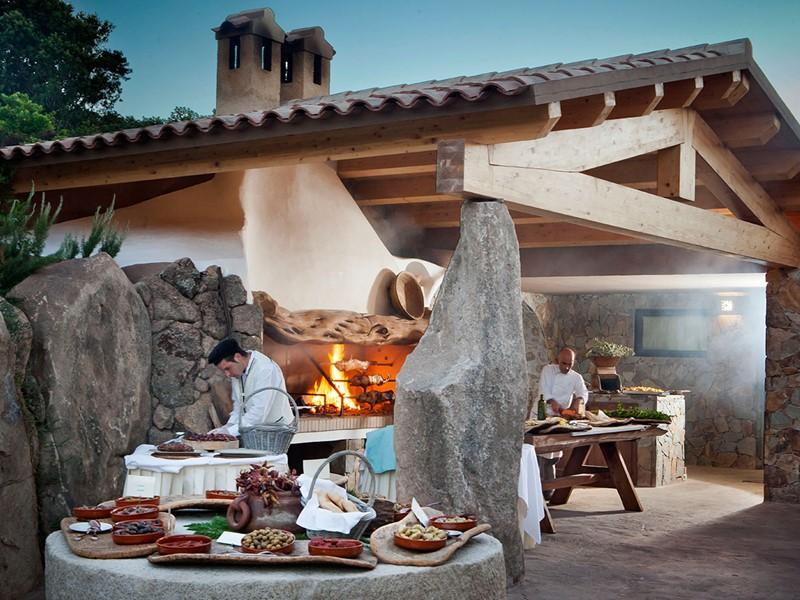 Li Ciusoni Restaurant de l'hôtel Valle dell'Erica en Sardaigne