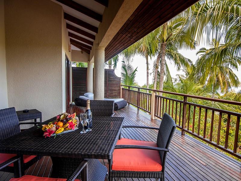 Le balcon de la Family Villa de l'hôtel Valmer Resort