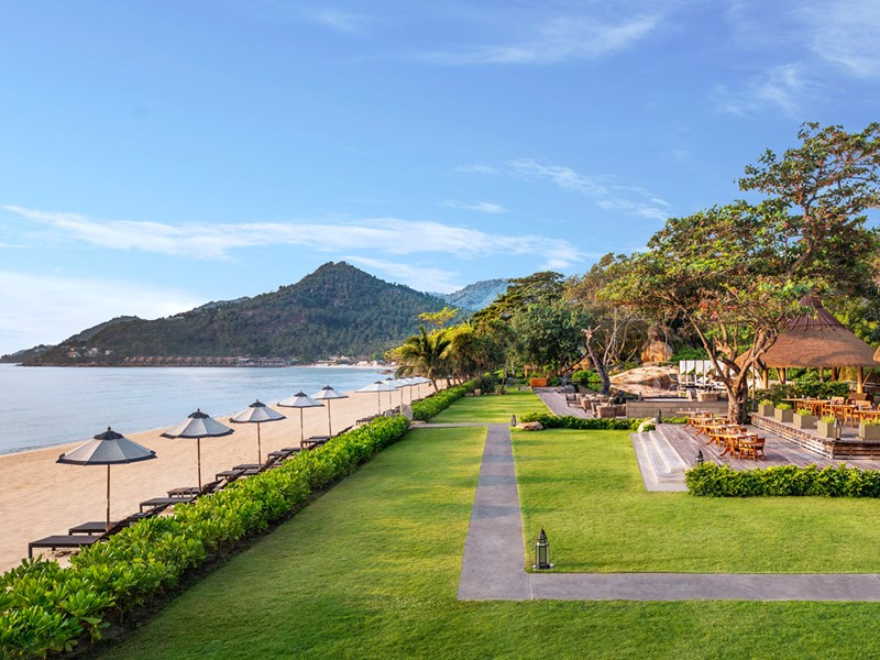 Le côté plage du Vana Belle devant le golfe du Siam