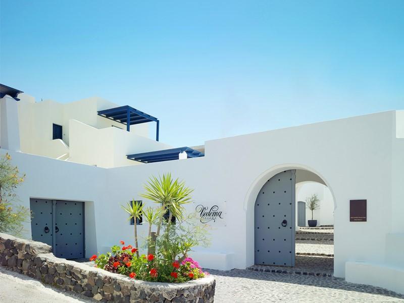 L'entrée de l'hôtel Vedema Resort en Grèce