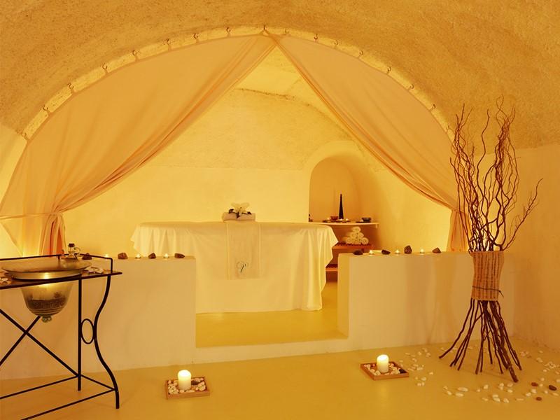 Spa de l'hôtel 5 étoiles Vedema Resort à Santorin