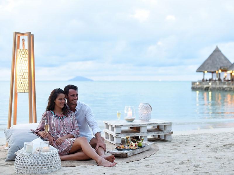 Apéro romantique sur la plage
