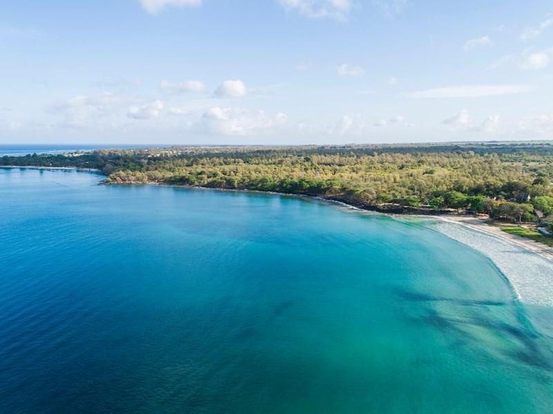 Vue aérienne du Veranda Tamarin à l'île Maurice