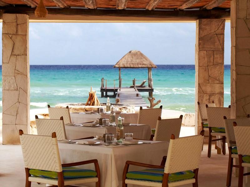 Restaurant Coral Grill de l'hôtel Viceroy Riviera Maya