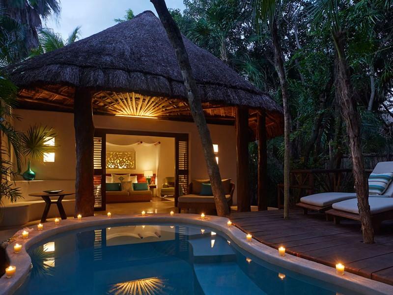La piscine de la Royal Villa du Viceroy Riviera Maya