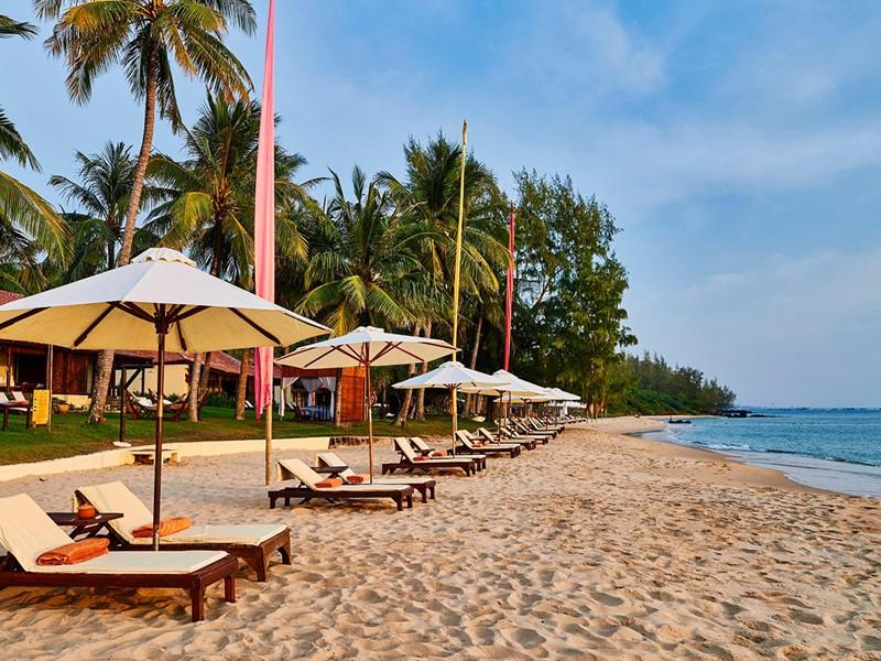 La jolie plage du Chen Sea Resort à Phu Quoc