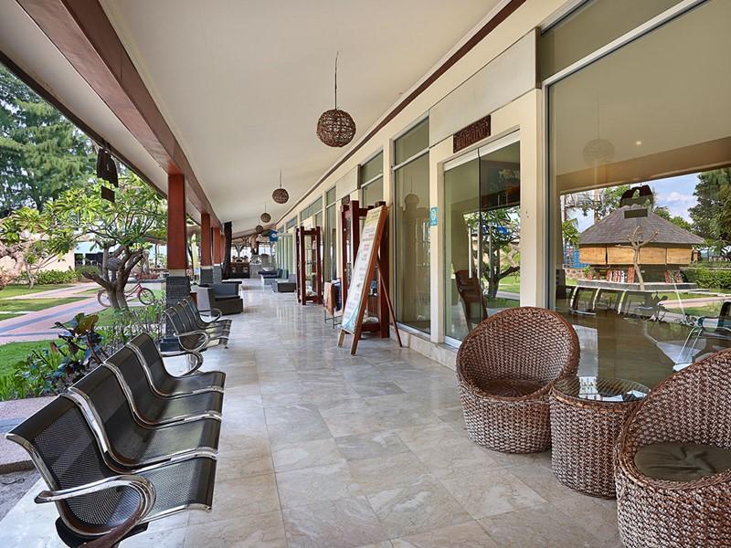 La clinique de l'hôtel Vila Ombak situé à Lombok