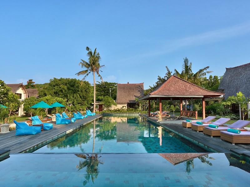 Autre piscine de l'hôtel Vila Ombak à Gili Trawangan