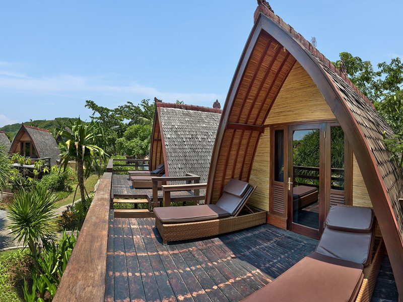 Exterieur de la Traditional Lumbung Hut de Vila Ombak