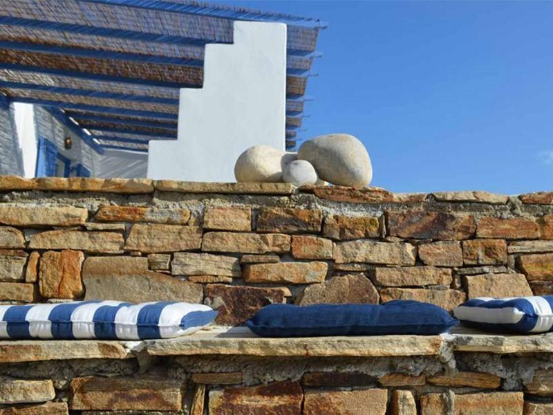 Extérieur de l'hôtel Villa Marandi à Naxos en Grèce