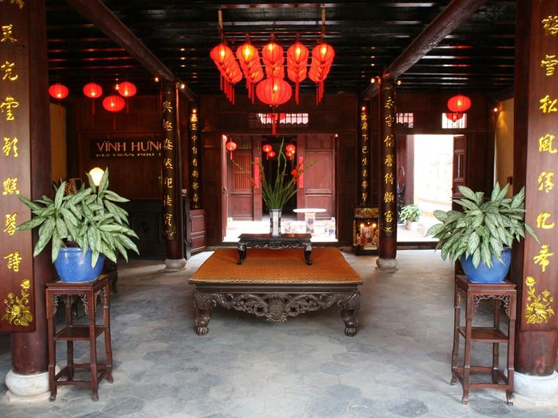 Le lobby du Vinh Hung 1 Heritage Hotel au Vietnam