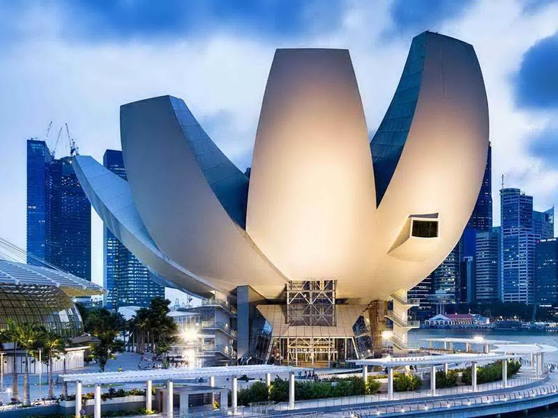 Vue du Musée de la Science et de l'Art à Singapour