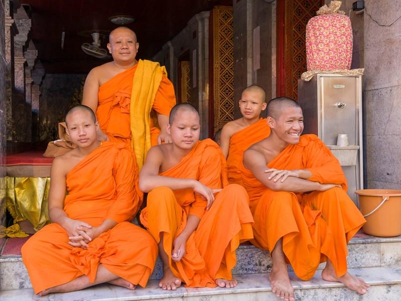 Rencontre avec les moines en Thaïlande
