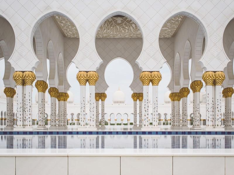 La mosquée Cheikh Zayed à Abu Dhabi