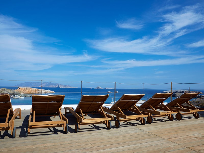 Un joli panorama sur la mer Égée