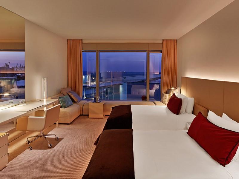 La Chambre Wonderful du W Barcelone Hotel en Espagne