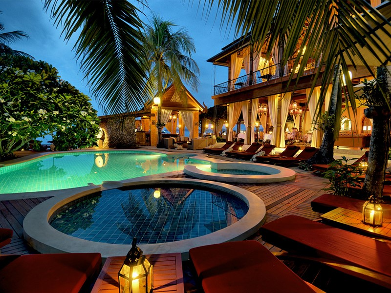 La piscine de l'hôtel Zazen Boutique Resort en Thailande