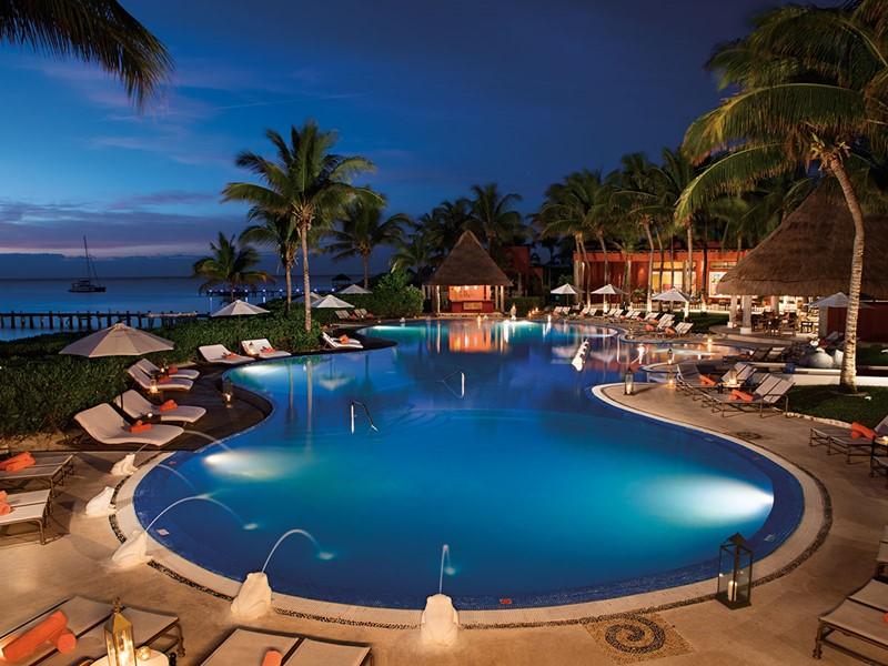 La piscine du Zoetry Paraiso de la Bonita au Mexique