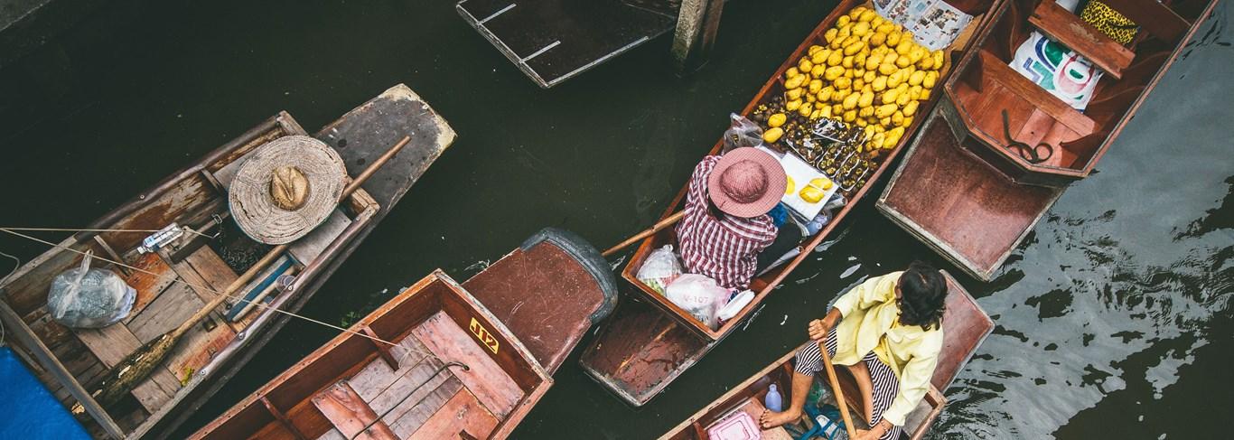 Les marchés flottants le long des Klongs de Thonburi