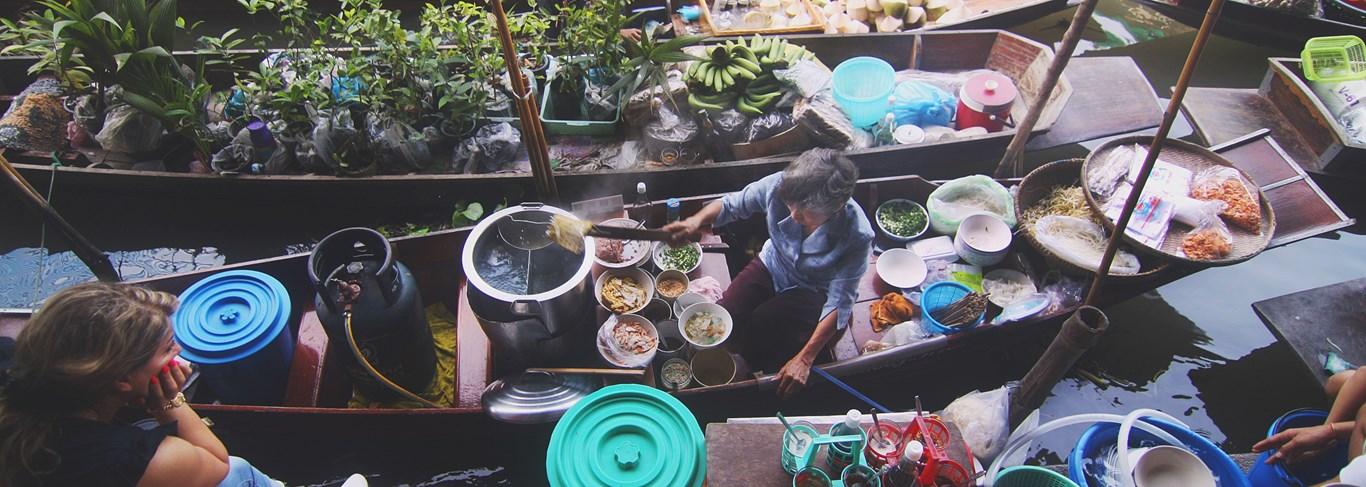 Les marchés célèbres d'Indochine et de Thaïlande