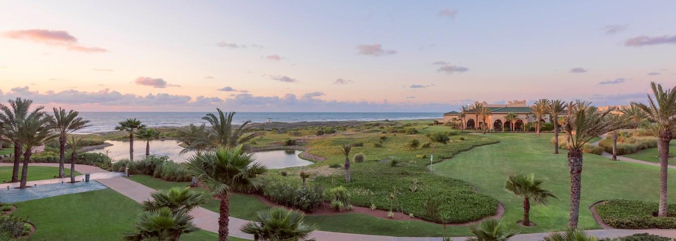 La vue de l'hôtel, pour y observer les couchers du soleil